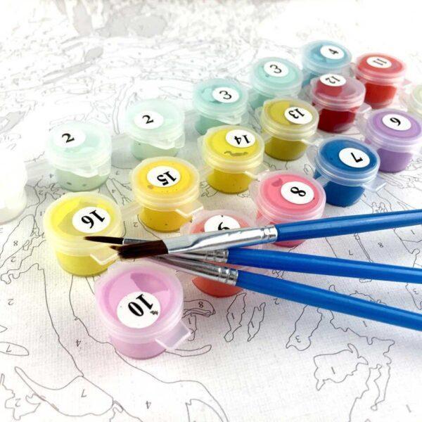 Комплектация набора для рисования - картины по номерам