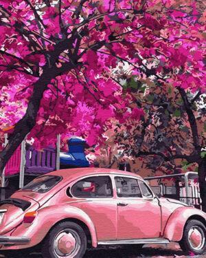 Картина по номерам Цветущая парковка (Brushme GX32366)