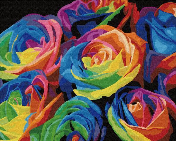 Картина по номерам Радужные розы (Brushme G057)