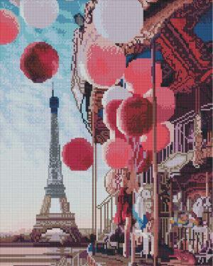 Алмазная мозаика Карусель в центре Парижа (Brushme GF4065)