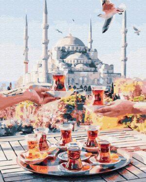 Картина по номерам Чаепитие в Стамбуле (Brushme GX34798)