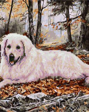 Алмазная картина-раскраска Охотничий пес (Brushme GZS1059)