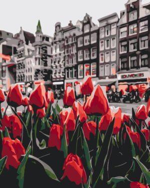 Картина по номерам Тюльпаны Амстердама (Brushme GX34169)