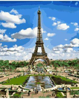 Картина по номерам Эйфелева башня (Brushme GX9011)