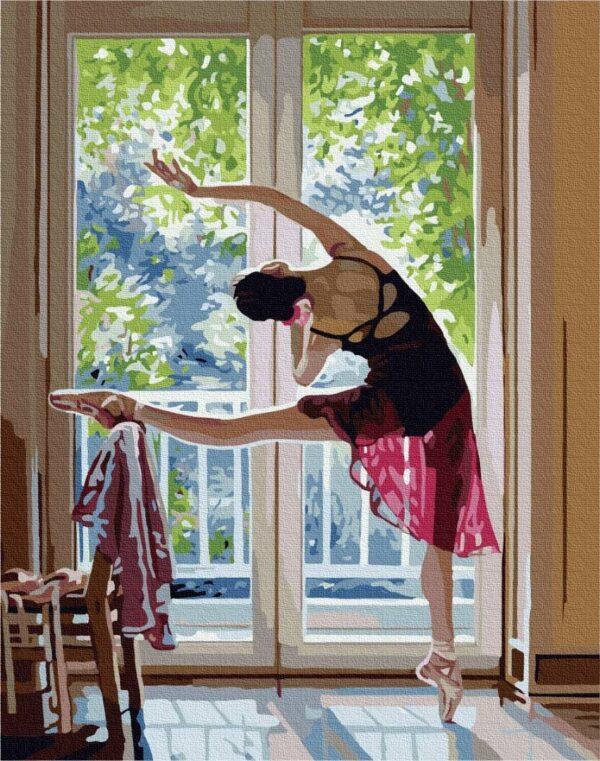 Картина по номерам Растяжка балерины (Brushme G236)