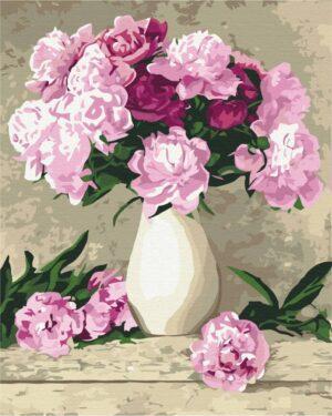 Картина по номерам Нежные пионы (Brushme BS069)