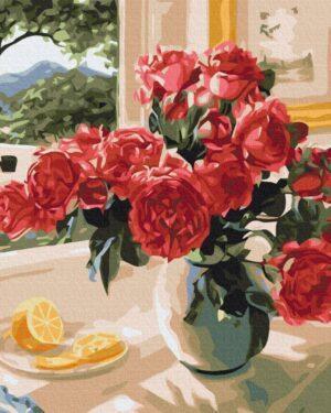 Картина по номерам Лимонный акцент красных (Brushme BS23853)