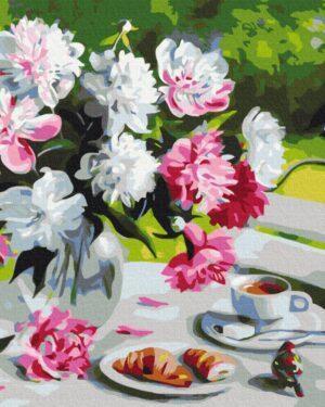 Картина по номерам Завтрак с пионами (Brushme BS29388)