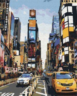 Картина по номерам Жизнь Таймс-сквер (Brushme BS5377)